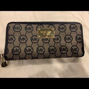 Michael Kors canvas wallet